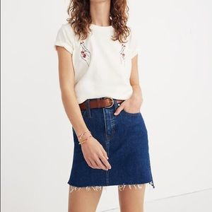 Madewell Stretch Denim Mini Skirt:Step-Hem Edition